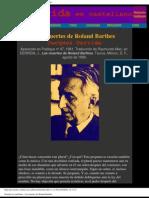 Derrida, Jacques - Las Muertes de Roland Barthes