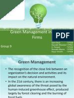 Green Management Group 9