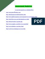 Assessment Rubric Websites