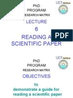 Reading Paper