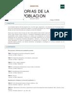 PROGRAMA TEORÍASD DE LA POBLACIÒN 2011-12