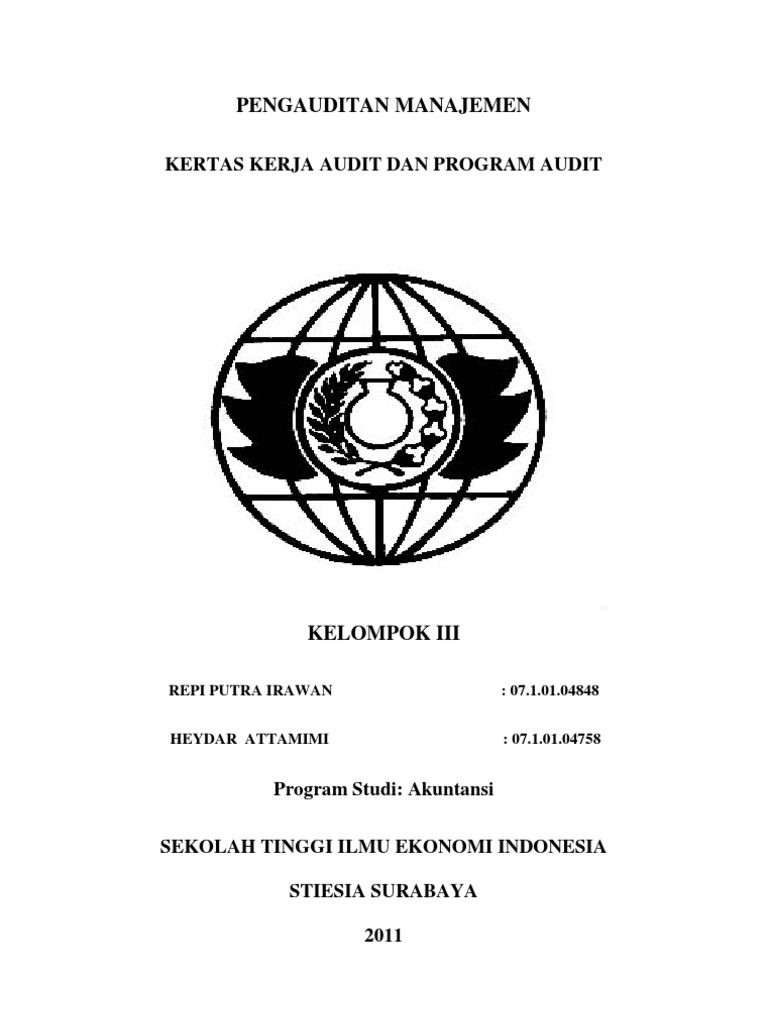 Kertas Kerja Audit Dan Program Audit