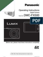 Lumix FX500 Manual