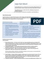 Pressure Groups Fact Sheet