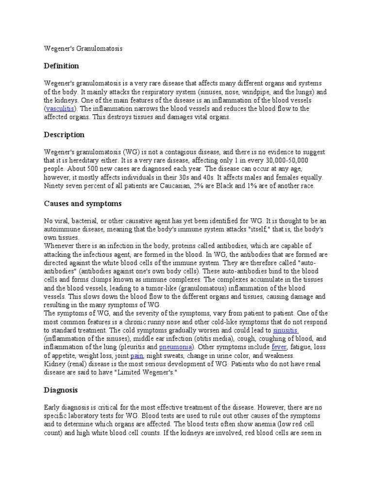 Wegener | Infection | Public Health