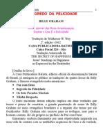 Livro - Billy Graham - O Segredo Da Felicidade