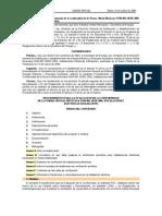 PEC, NOM-001-2005, Publicado-dof 27 Octubre 2006