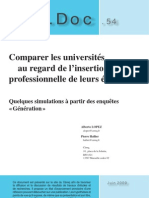 Evaluation Des Universite