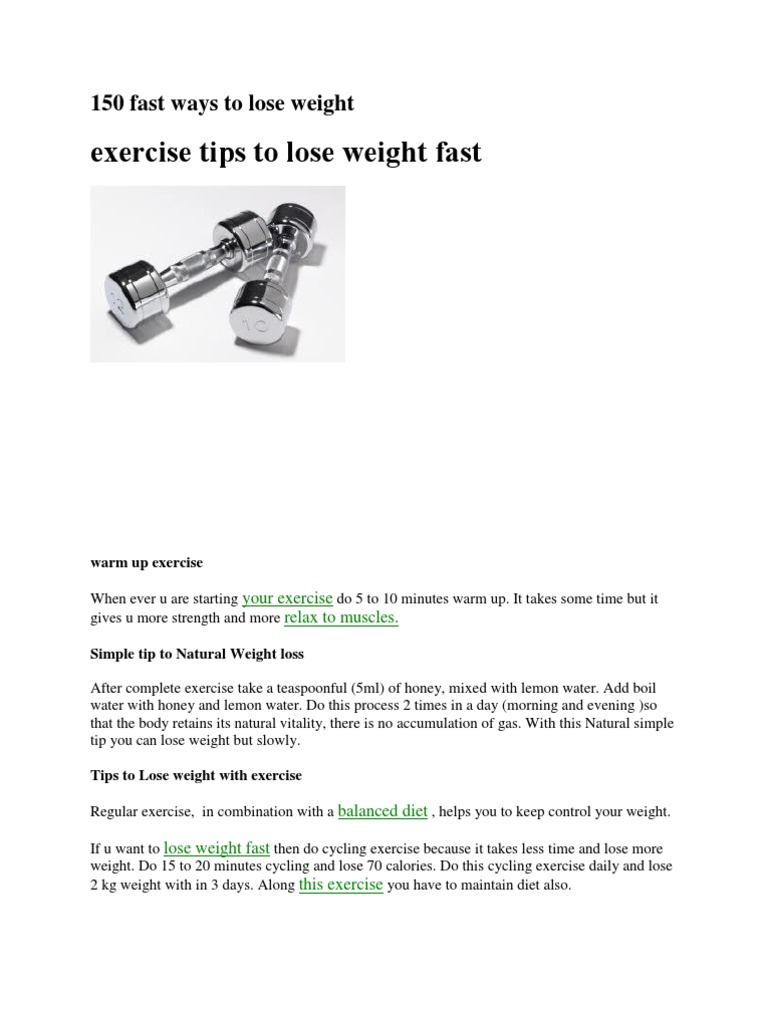 150 Fast Ways to Lose Weight | Dieting | Weight Loss