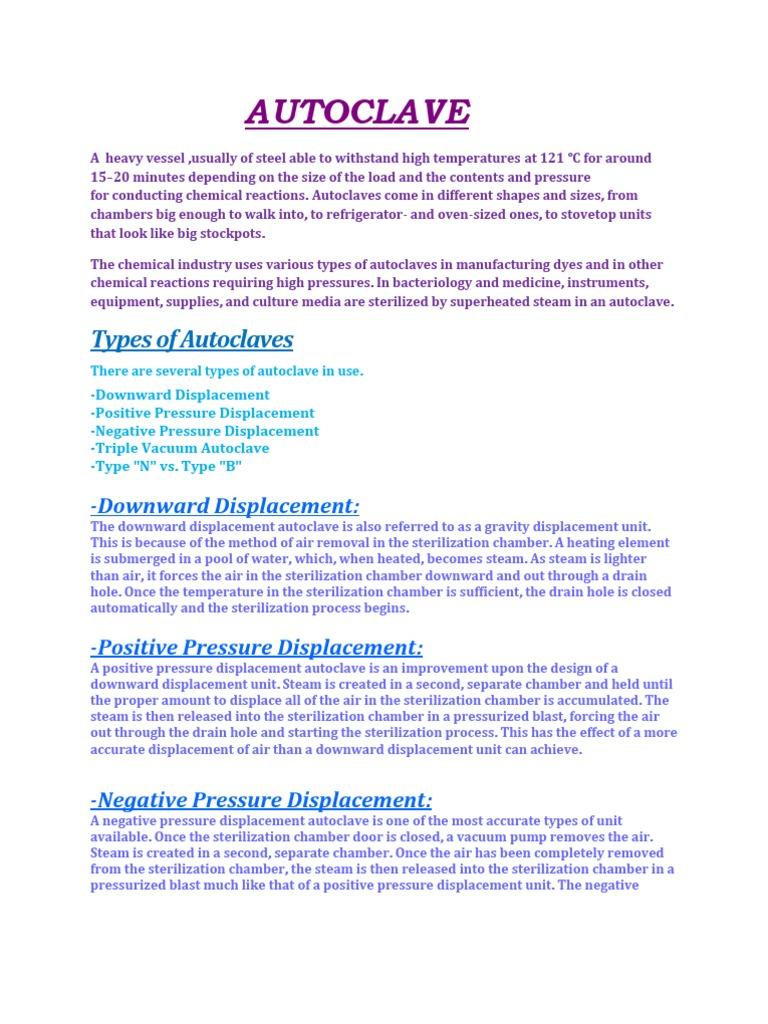 Autoclave | Sterilization (Microbiology) | Equipment