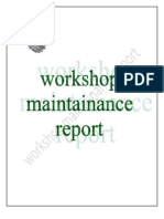 Maintainance Report