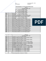 Orar Master Psiho Militara Sem I 2011 - 2012