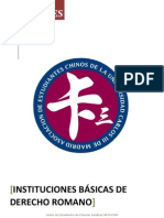 Instituciones Básicas de Derecho Romano