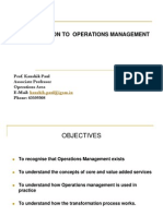 6366843 Introduction to Operations Management