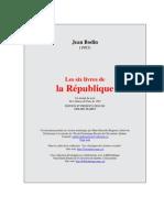 Bodin Six Livres Republique