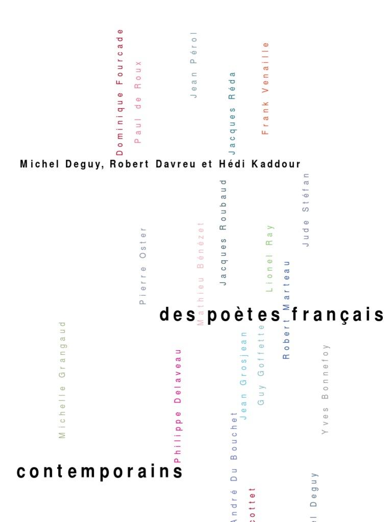 Poetes Francais Contemporains