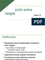 Clase 10-Correlación Entre Rasgos