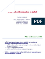 Latex Intro