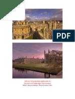 Oxbridge Advice Booklet 2011