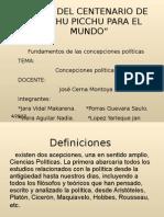 AÑO DEL CENTENARIO DE MACHU PICCHU PARA