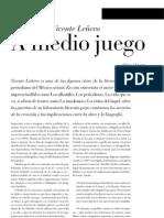 Entrevista a Vicente Leñero (antisemita)