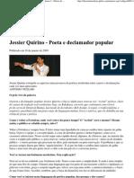 Jessier Quirino - Poeta e declamador popular - Caderno 3 - Diário do Nordeste