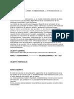 DETERMINACIÓN DEL ORDEN DE REACCIÓN DE LA NITROSACIÓN DE LA DIMETILUREA