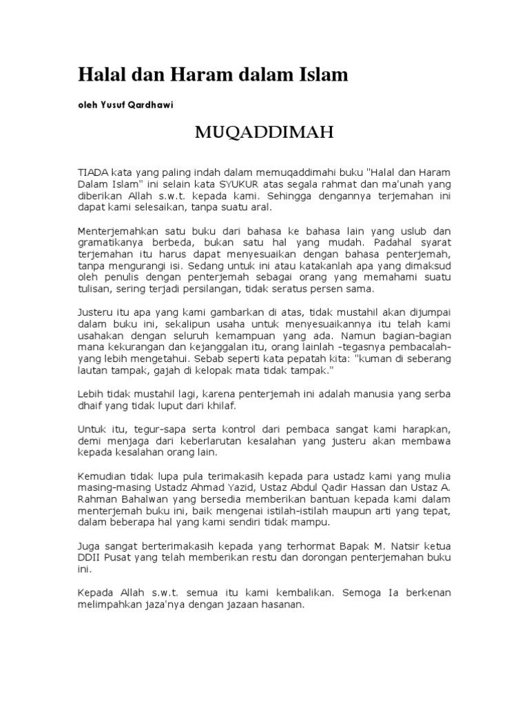DR. Yusuf Qardhawi - Halal Dan Haram Dalam Islam 615ce3cd72