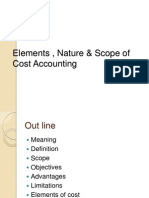 Elements , Nature & Scope of Cost Accounting
