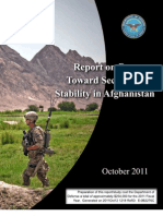 Progress Toward Security and Stability in Afghanistan - Oct 11