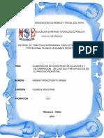 Informe de Alcachofa
