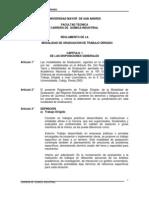 Reglamento De La Modalidad De Graduación De Trabajo Dirigido Quimica Industrial
