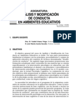Analisis y Modificacion de La Conducta