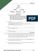 Marking Scheme > Biology 1992 Paper 1 Marking Scheme