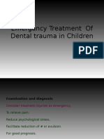 Emergency Treatment of Dental Trauma in Children