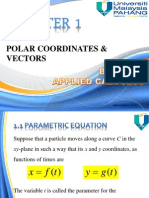 CHAPTER 1 Polar Coordinates and Vector