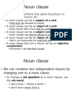 Noun Clause and Reported Speech