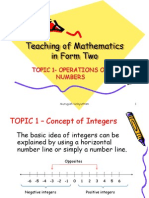 Topic 1(Operation on Numbers)