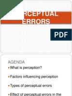 Perceptual Errors Ppt
