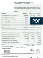 on of All Audited and Unaudited Fs-2011-2007