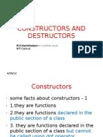 Constructors and Destructors