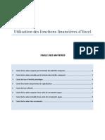 fonctions financières d'Excel