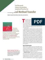 Analytical Method Transfer