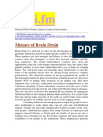 Menace of Brain Drain