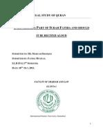 Assignment of Legal Study of Quran Original