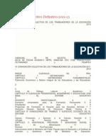 Contrato Colectivo Definitivo 2011