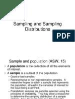 Sampling n Sampling Distribution