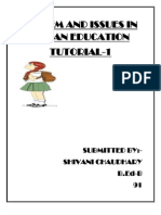 System and Issues in Indian Education Tute