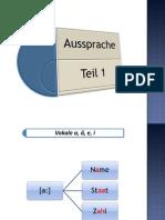 German pronunciation - rules - part 1