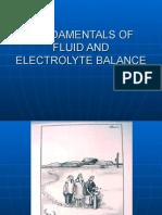 Fundamentals Fluid Electrolyte Balance